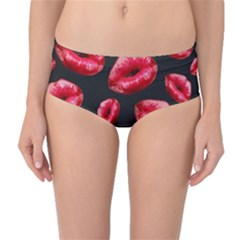 Sassy Lips  Mid-Waist Bikini Bottoms