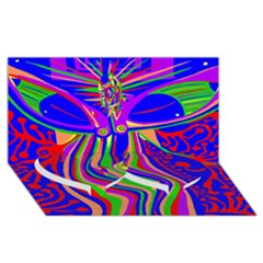 Transcendence Evolution Twin Heart Bottom 3D Greeting Card (8x4)