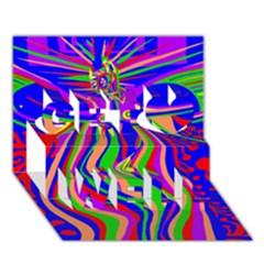 Transcendence Evolution Get Well 3D Greeting Card (7x5)