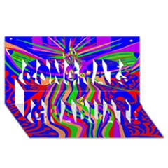 Transcendence Evolution Congrats Graduate 3D Greeting Card (8x4)