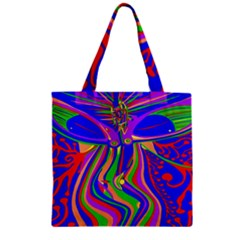 Transcendence Evolution Zipper Grocery Tote Bags
