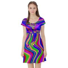 Transcendence Evolution Short Sleeve Skater Dresses