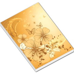 Wonderful Flowers With Butterflies Large Memo Pads