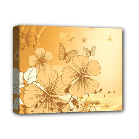 Wonderful Flowers With Butterflies Deluxe Canvas 14  x 11