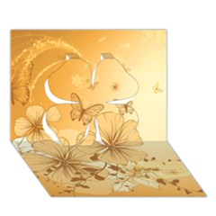 Wonderful Flowers With Butterflies Clover 3d Greeting Card (7x5)