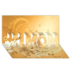 Wonderful Flowers With Butterflies #1 MOM 3D Greeting Cards (8x4)