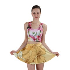 Wonderful Flowers With Butterflies Mini Skirts