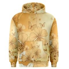 Wonderful Flowers With Butterflies Men s Pullover Hoodies