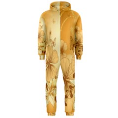 Wonderful Flowers With Butterflies Hooded Jumpsuit (Men)