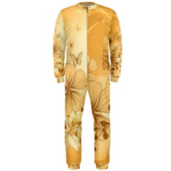 Wonderful Flowers With Butterflies OnePiece Jumpsuit (Men)