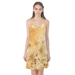 Wonderful Flowers With Butterflies Camis Nightgown