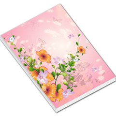 Beautiful Flowers On Soft Pink Background Large Memo Pads