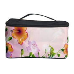 Beautiful Flowers On Soft Pink Background Cosmetic Storage Cases