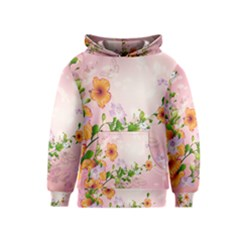 Beautiful Flowers On Soft Pink Background Kid s Pullover Hoodies