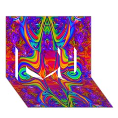 Abstract 1 I Love You 3d Greeting Card (7x5)