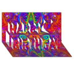 Abstract 1 Happy Birthday 3D Greeting Card (8x4)