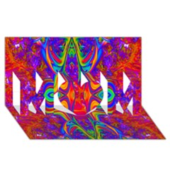 Abstract 1 Mom 3d Greeting Card (8x4)
