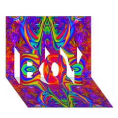 Abstract 1 BOY 3D Greeting Card (7x5)