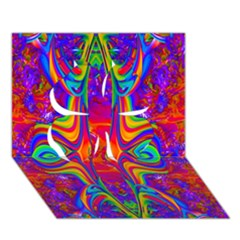 Abstract 1 Clover 3D Greeting Card (7x5)
