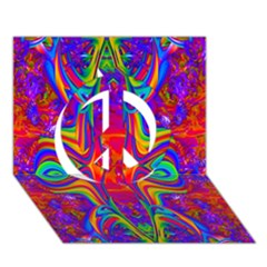 Abstract 1 Peace Sign 3D Greeting Card (7x5)