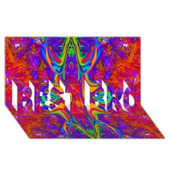 Abstract 1 BEST BRO 3D Greeting Card (8x4)