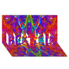 Abstract 1 BEST SIS 3D Greeting Card (8x4)
