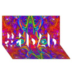 Abstract 1 #1 DAD 3D Greeting Card (8x4)