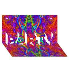 Abstract 1 Party 3d Greeting Card (8x4)