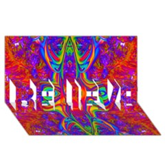 Abstract 1 Believe 3d Greeting Card (8x4)