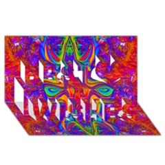 Abstract 1 Best Wish 3D Greeting Card (8x4)