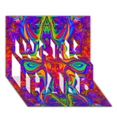 Abstract 1 WORK HARD 3D Greeting Card (7x5)