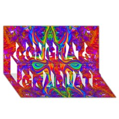 Abstract 1 Congrats Graduate 3D Greeting Card (8x4)