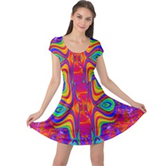 Abstract 1 Cap Sleeve Dresses