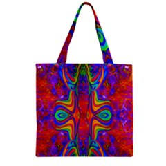 Abstract 1 Zipper Grocery Tote Bags