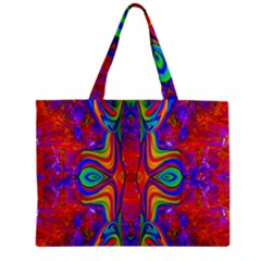 Abstract 1 Zipper Tiny Tote Bags