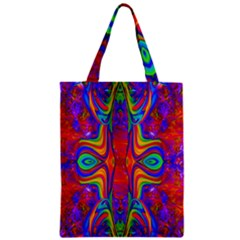 Abstract 1 Zipper Classic Tote Bags