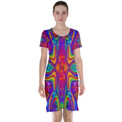 Abstract 1 Short Sleeve Nightdresses