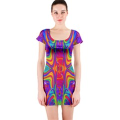 Abstract 1 Short Sleeve Bodycon Dresses