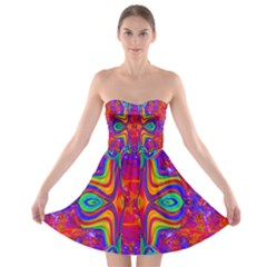 Abstract 1 Strapless Bra Top Dress