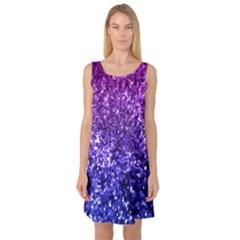 Midnight Glitter Sleeveless Satin Nightdresses
