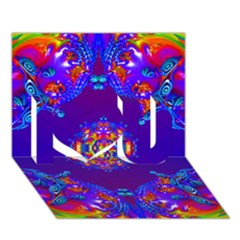 Abstract 2 I Love You 3d Greeting Card (7x5)
