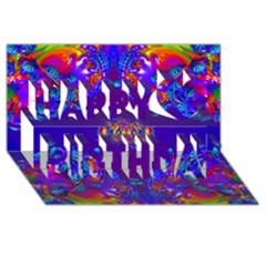 Abstract 2 Happy Birthday 3D Greeting Card (8x4)