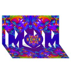 Abstract 2 Mom 3d Greeting Card (8x4)