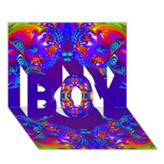 Abstract 2 Boy 3d Greeting Card (7x5)