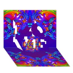Abstract 2 LOVE 3D Greeting Card (7x5)