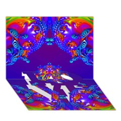 Abstract 2 LOVE Bottom 3D Greeting Card (7x5)