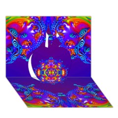 Abstract 2 Apple 3d Greeting Card (7x5)