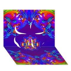 Abstract 2 Clover 3D Greeting Card (7x5)