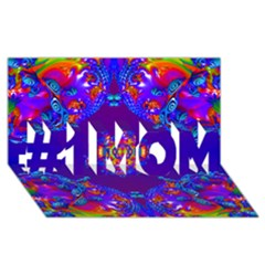 Abstract 2 #1 Mom 3d Greeting Cards (8x4)