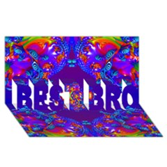 Abstract 2 Best Bro 3d Greeting Card (8x4)